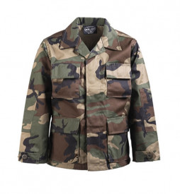 VESTON COPII BDU CAMUFLAJ WOODLAND