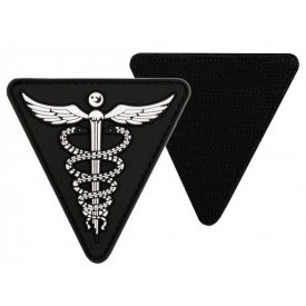 BLACK PVC MEDICAL 3D PATCH W. HOOK&LOOP CLOSURE