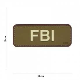 Patch 3D PVC FBI Green/Brown