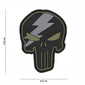Patch 3D PVC Punisher Thunder Green