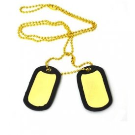 PLACUTE IDENTIFICARE US SOLDIERS (DOG TAG) GOLD