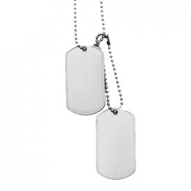 PLACUTE IDENTIFICARE US SOLDIERS (DOG TAG) NICHELATE