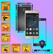 Huawei Ascend P9 Lite - Folie Carbon Texturat - Carbon SKINZ , husa tip skin ( Folie Carcasa + Folie Rama Ecran )