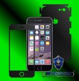 "Apple iPhone 6 Plus/ 6S Plus 5.5"" - Folie Carbon Texturat - Carbon SKINZ , husa tip skin ( Folie Carcasa + Folie Rama Ecran )"
