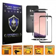 Samsung Galaxy S8 - Folie Carbon Texturat - Carbon SKINZ , husa tip skin ( Folie Carcasa + Folie Rama Ecran )