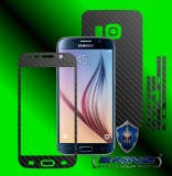 Samsung Galaxy S6 - Folie Carbon Texturat - Carbon SKINZ , husa tip skin ( Folie Carcasa + Folie Rama Ecran )