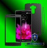 LG G Flex 2 - Folie Carbon Texturat - Carbon SKINZ , husa tip skin ( Folie Carcasa + Folie Rama Ecran )
