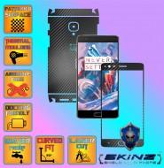 OnePlus 3 - Folie Carbon Texturat - Carbon SKINZ , husa tip skin ( Folie Carcasa + Folie Rama Ecran )