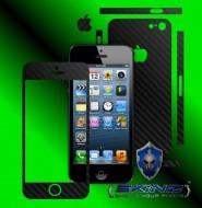 Apple iPhone SE - Folie Carbon Texturat - Carbon SKINZ ( Folie Carcasa + Folie Rama Ecran )