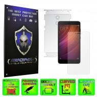 Xiaomi Redmi Note 4, 4X - Folie SKINZ Protectie Full Body Ultra Clear HD sau Mata AntiAmprenta, husa invizibila tip skin ( Folie Protectie Ecran + Folie Carcasa )
