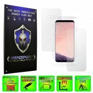 Samsung Galaxy S8 - Folie SKINZ Protectie Full Body Ultra Clear HD sau Mata AntiAmprenta, husa invizibila tip skin ( Folie Protectie Ecran + Folie Carcasa )