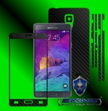 Samsung Galaxy Note 4 - Folie Carbon Texturat - Carbon SKINZ , husa tip skin ( Folie Carcasa + Folie Rama Ecran )