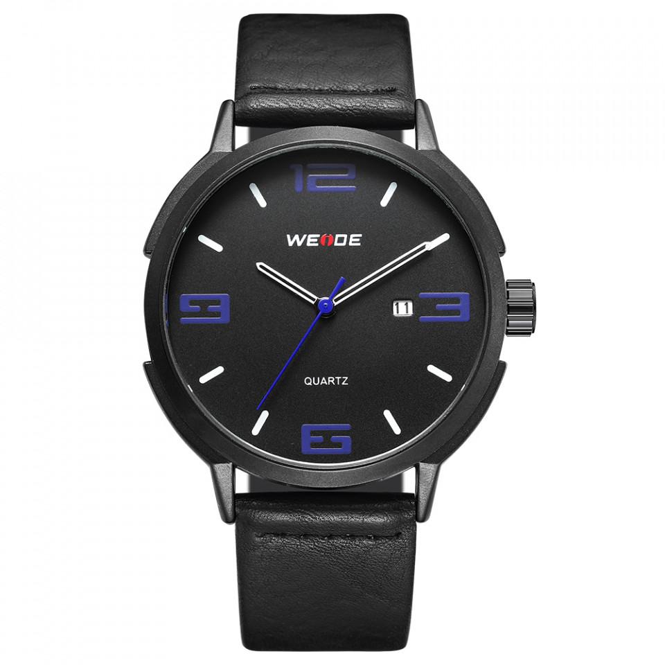 Ceas WEIDE, Quartz, Clasic, Albastru, Curea Piele, WD004B-3C