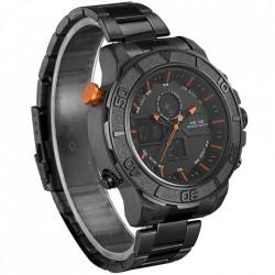 Ceas WEIDE, Quartz, Casual Sport, Orange, Curea Metalica, WH6108B-5C