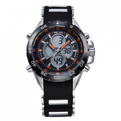 Ceas WEIDE, Quartz, Casual Sport, Orange, Curea Silicon, WH1103-9C