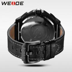 Ceas WEIDE, Quartz, Casual Sport, Negru, Curea Piele, UV1507B-1C