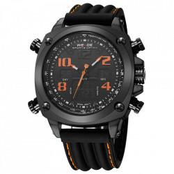 Ceas WEIDE, Quartz, Casual Sport, Orange, Curea Silicon, WH5208B-5C