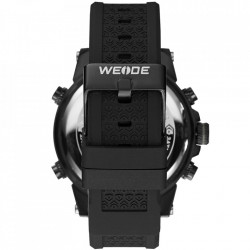 Ceas WEIDE, Quartz, Casual Sport, Negru, Curea Silicon, WH6403B-1C