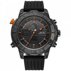Ceas WEIDE, Quartz, Casual Sport, Orange, Curea Silicon, WH6108B-10C