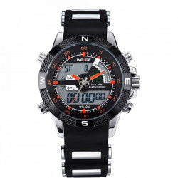 Ceas WEIDE, Quartz, Casual Sport, Orange, Curea Silicon, WH1104-10C