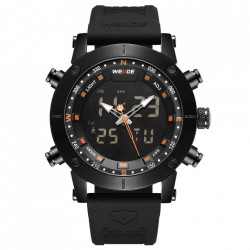Ceas WEIDE, Quartz, Casual Sport, Orange, Curea Silicon, WH6309B-5C