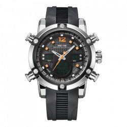 Ceas WEIDE, Quartz, Casual Sport, Orange, Curea Silicon, WH5205-12C