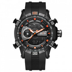 Ceas WEIDE, Quartz, Casual Sport, Orange, Curea Silicon, WH6902B-10C