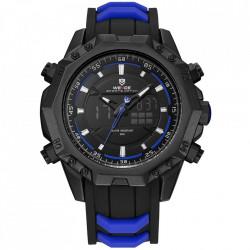 Ceas WEIDE, Quartz, Casual Sport, Albastru, Curea Silicon, WH6406B-4C
