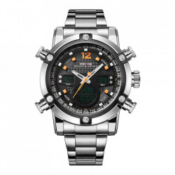 Ceas WEIDE, Quartz, Casual Sport, Orange, Curea Metalica, WH5205-6C