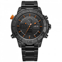 Ceas WEIDE, Quartz, Casual Sport, Orange, Curea Metalica, WH6108B-5C