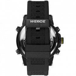 Ceas WEIDE, Quartz, Casual Sport, Galben, Curea Silicon, WH6403B-3C