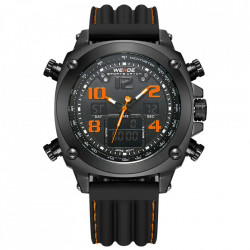 Ceas WEIDE, Quartz, Casual Sport, Orange, Curea Silicon, WH5208B-5C