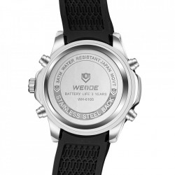 Ceas WEIDE, Quartz, Casual Sport, Orange, Curea Silicon, WH6105-12C