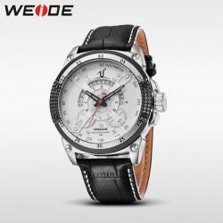 Ceas WEIDE, Quartz, Casual Sport, Alb, Curea Piele, UV1605-2C