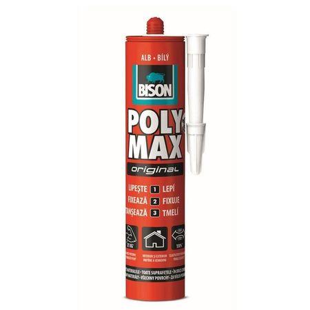 BISON Poly Max  alb  polimer 465g
