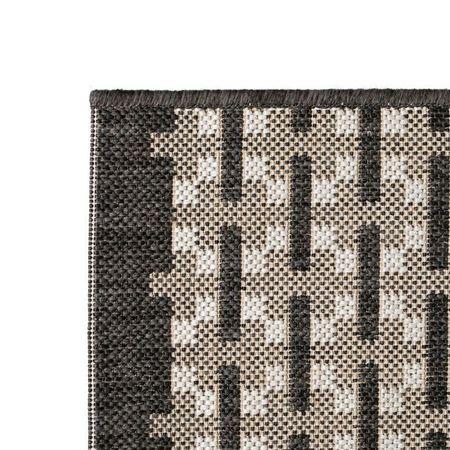 Covor aspect sisal de interior/exterior, 180 x 280 cm, pătrate