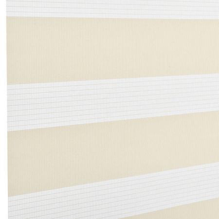 Roleta dubla (zebra) - protectie lumina - jaluzea - fara gaurire (120x230cm) bej
