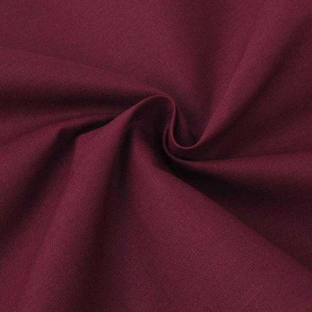 Țesătură din bumbac 1,45 x 20 m, roșu burgund