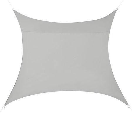 [en.casa]® Copertina Sonnensegel pentru soare sau vant, 4 x 4 m, poliester/poliuretan, gri deschis