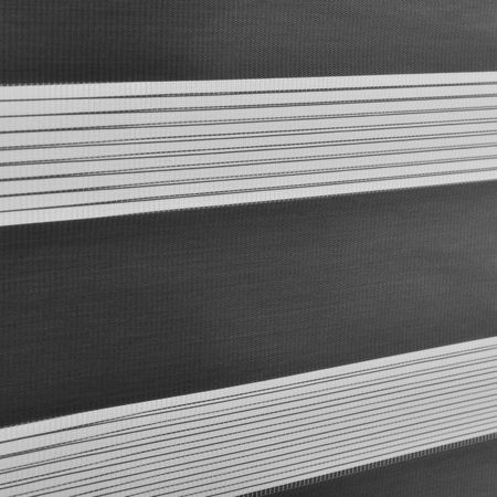 Roleta dubla (zebra) - protectie lumina - jaluzea - fara gaurire (140x230cm) gri