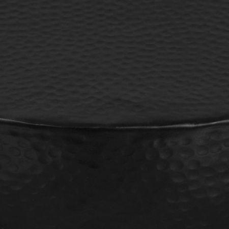vidaXL Măsuță de cafea, negru, 70 x 30 cm, aluminiu bătut cu ciocanul
