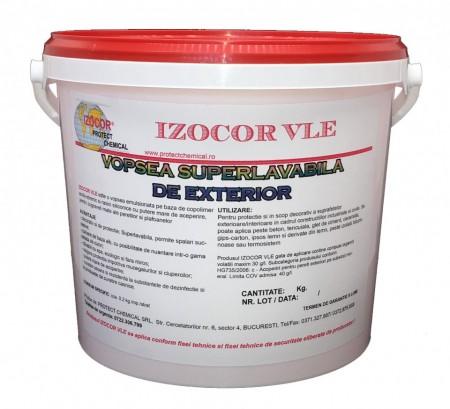 Vopsea lavabila de exterior antimucegai IZOCOR VLE, 25 kg