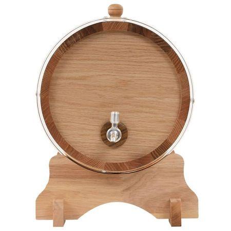 Butoi de vin cu canea, stejar masiv, 12 L