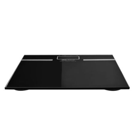 Cantar baie digital AAPW-7100, 180 Kg, 30 x 30 x 2 cm, ABS/sticla, negru, cu baterii si stocare 12 informatii diferite