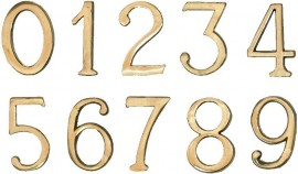 """Cifre Autoadezive din Plastic pt Usa de Apartament """"4""""  - 10 buc"""