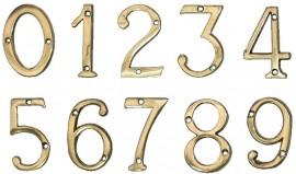 """Cifre din Alama pt Usa de Apartament """"4""""  - 1 buc"""