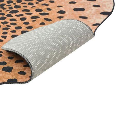 Covor decupat cu imprimeu ghepard, 110 x 150 cm