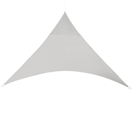 [en.casa]® Copertina parasolar rezistenta la apa, 400 x 400 x 400 cm, en.casa, poliester/poliuretan, triunghiulara, gri deschis