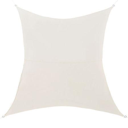 [en.casa]® Copertina Sonnensegel pentru soare sau vant, 2 x 3 m, poliester/poliuretan, culoarea nisipului