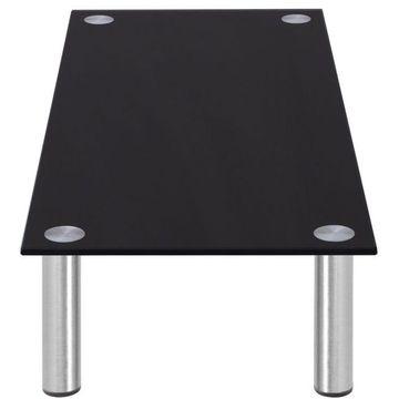 Înălțător monitor/suport TV din sticlă, 80 x 35 x 17, negru